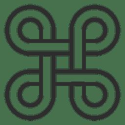 Quatro infinitos símbolos logotipo infinito