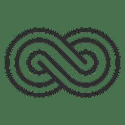 Logotipo infinito rayado infinito