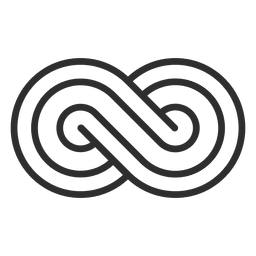 Striped infinity logo infinite