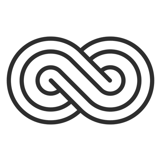 Striped infinity logo infinite Transparent PNG