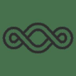 Logotipo infinito louco infinito