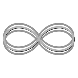 Gray infinity logo infinite