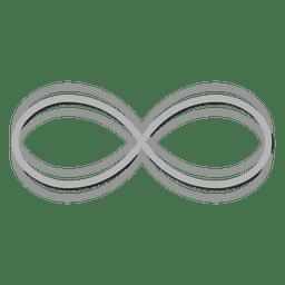 Logotipo infinito gris infinito