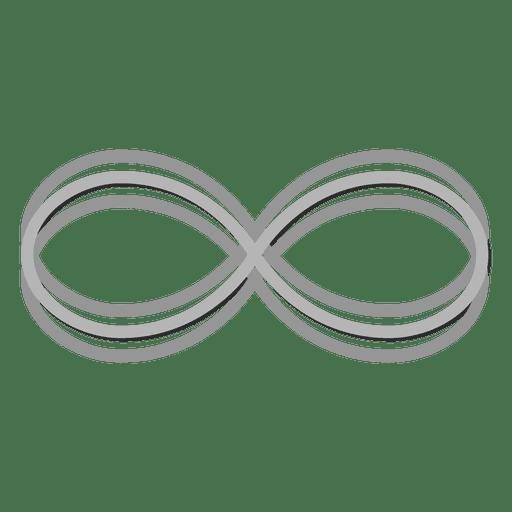 Gray infinity logo infinite Transparent PNG