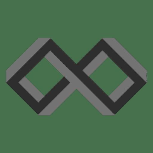 Infinity logo polygonal infinite