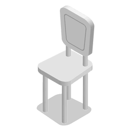 casa silla isométrica