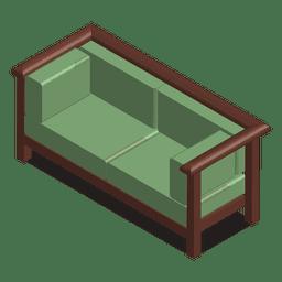 casa sofá isométrica