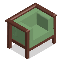 Isometric couch of a home