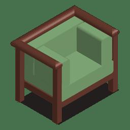 Sofá isométrico de uma casa