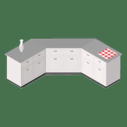 Cozinha de casa isométrica