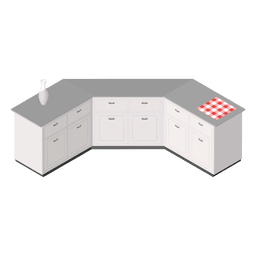 Isometric home kitchen