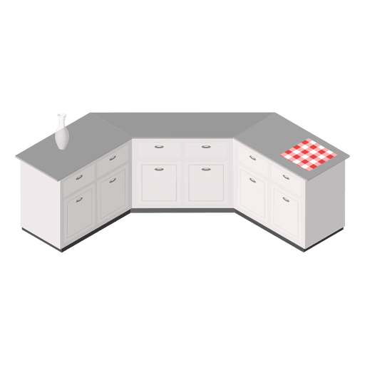 Isometric home kitchen Transparent PNG
