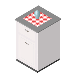 casa cozinha isométrica