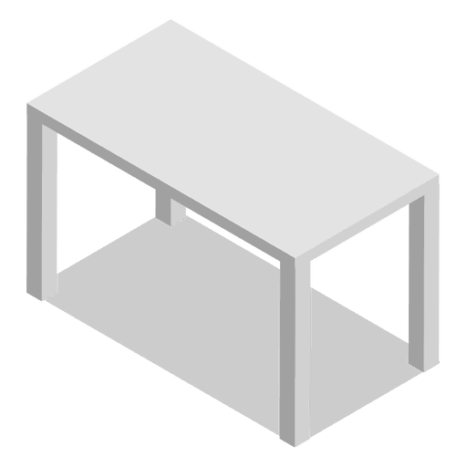 Isometric table home Transparent PNG