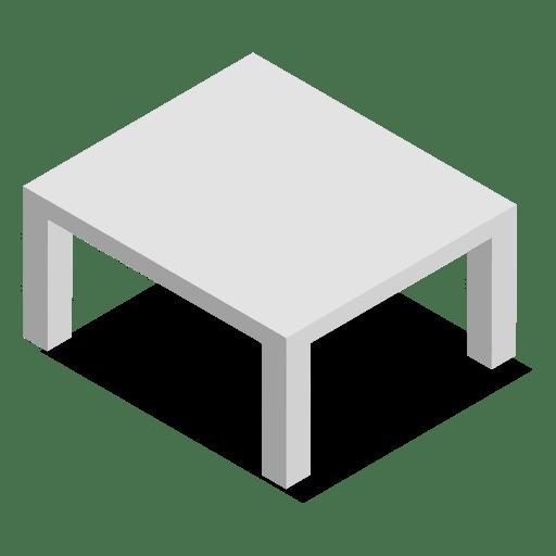 3D flat mesa isométrica para casa Transparent PNG