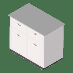 Isométrica mesa blanca casa