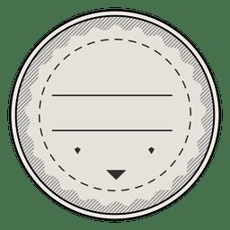 Etiqueta de la etiqueta de la vendimia