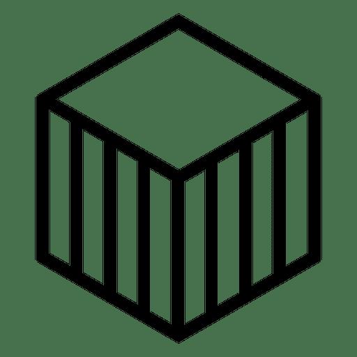 Logo geometric cube polygonal