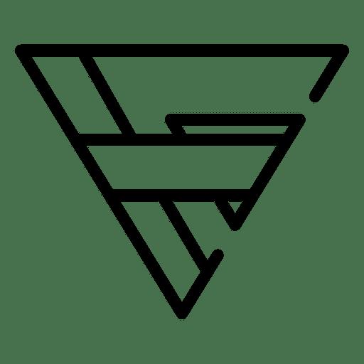 Logo geometric triangle polygonal