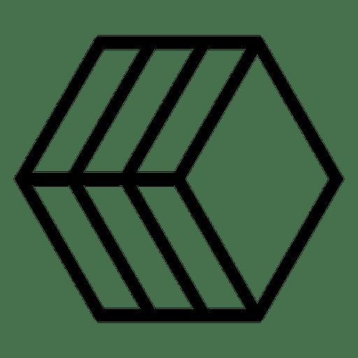 Geometric and polygonal logo