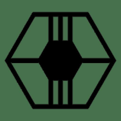 Logo geometric hexagon polygonal