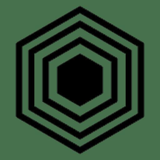 Hexagonal logo flat shape