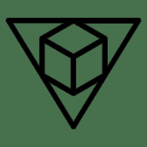 Logo geometric polygonal stroke