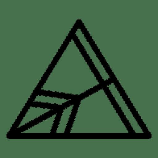 Triangular logo geometric polygonal