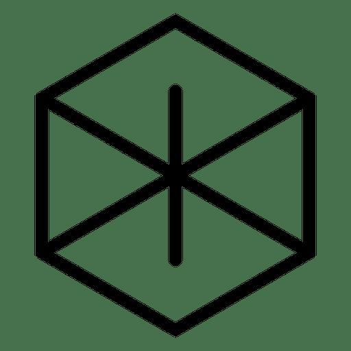 Logo Abstracto Hexagonal Geometrico Transparent PNG
