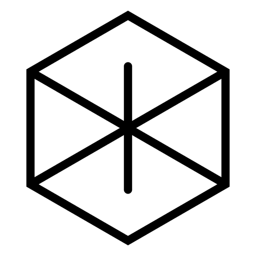 Logotipo abstrato hexagonal geométrico Transparent PNG