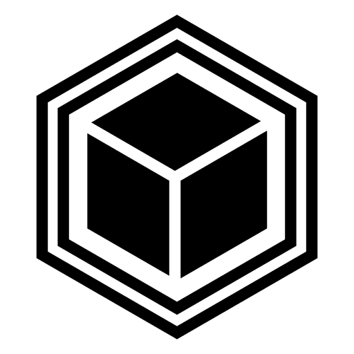 Geometric cube abstract logo