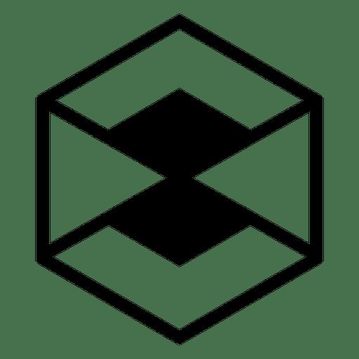 Logotipo abstracto geométrico hexagonal