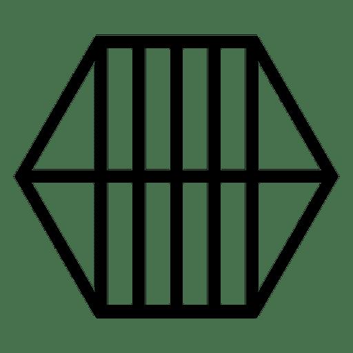 Geometrisch gestreiftes Sechseck-Logo Transparent PNG
