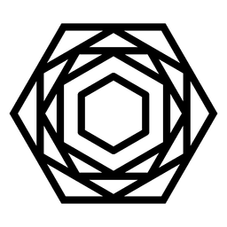 Forma poligonal geométrica do logotipo