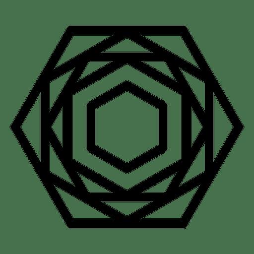 Logo con forma poligonal geométrica. Transparent PNG