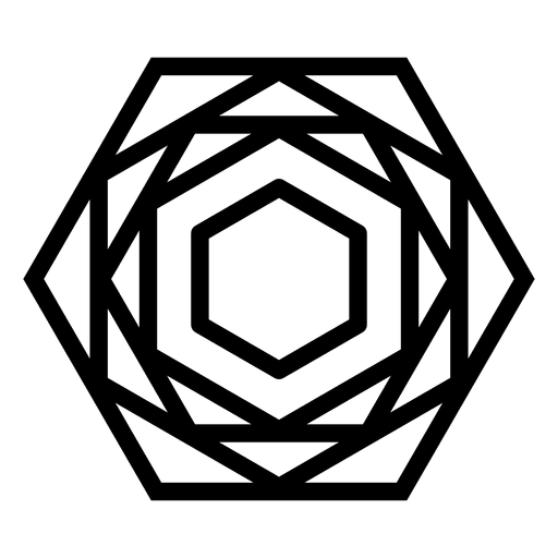 Logotipo de forma poligonal geométrica