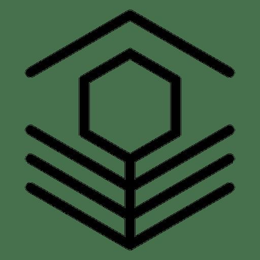 Abstract logo geometric polygonal