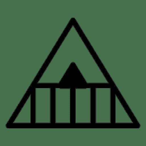Logo template geometric polygonal triangle
