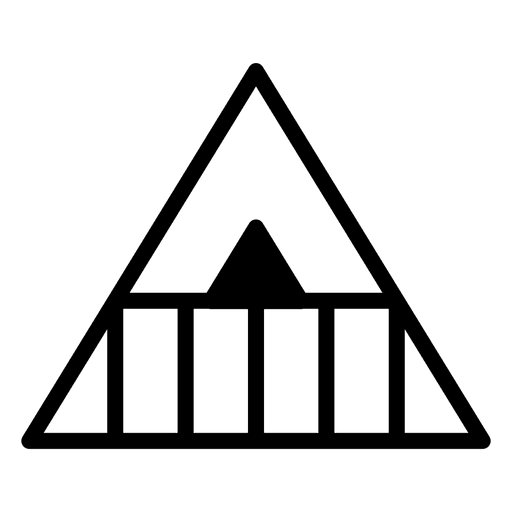 Modelo de logotipo triângulo poligonal geométrico Transparent PNG