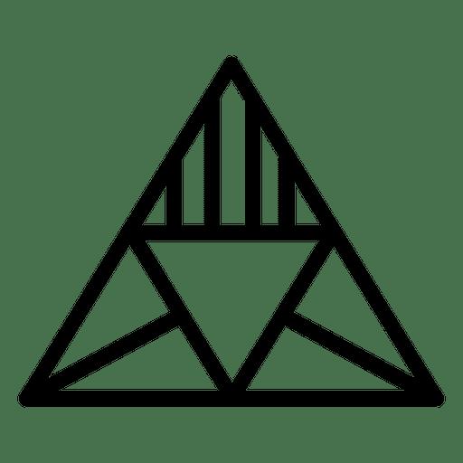 Triangular geometric shapes logo