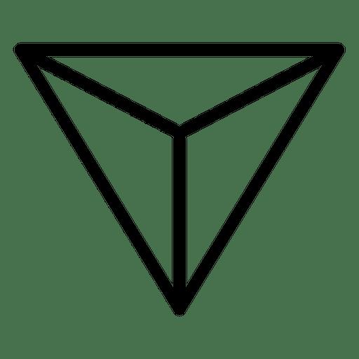 Einfaches Logo geometrisch polygonal Transparent PNG