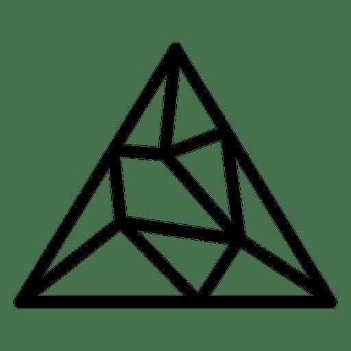 Triangle logo geometric - Transparent PNG & SVG vector file