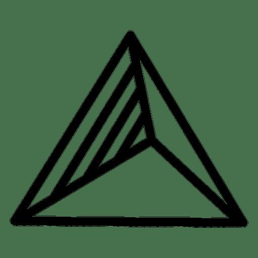 Logo triangle geometric polygonal