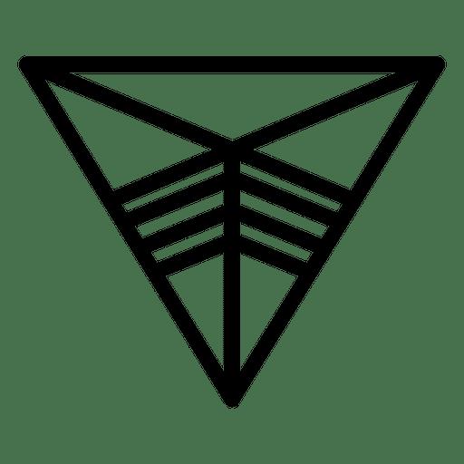 Logo geometric triange polygonal
