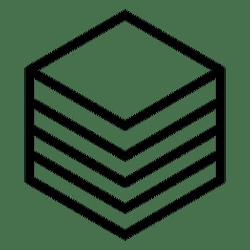 Logo geométrico poligonal cubo Transparent PNG