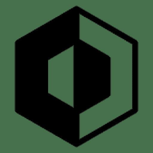 B&W logo geometric polygonal