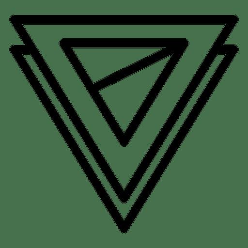 Two triangle logo geometric polygonal