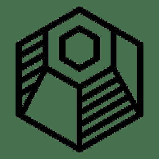 Logo geometric polygonal hexagonal