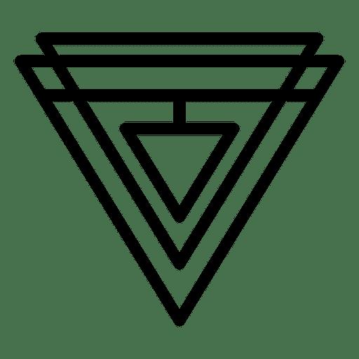 Polygonal Hexagon Logo: Abstract Geometric Triangles Logo