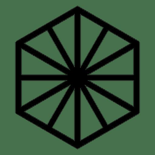 Logo geometric polygonal hexagon